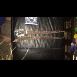 Accessories - Bling leather belt